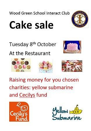 Interact Cake Sale.