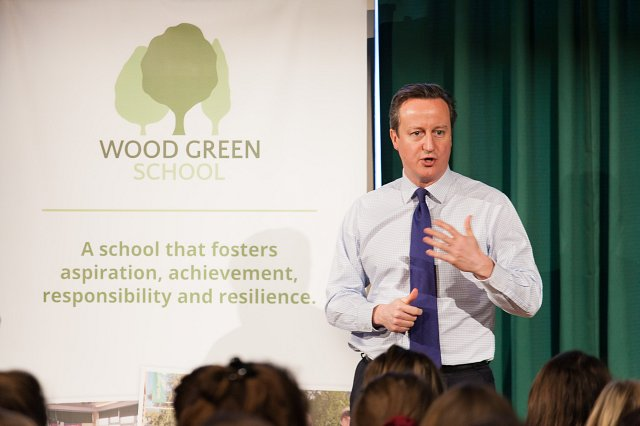 Mr Cameron talks to the Sixth Form