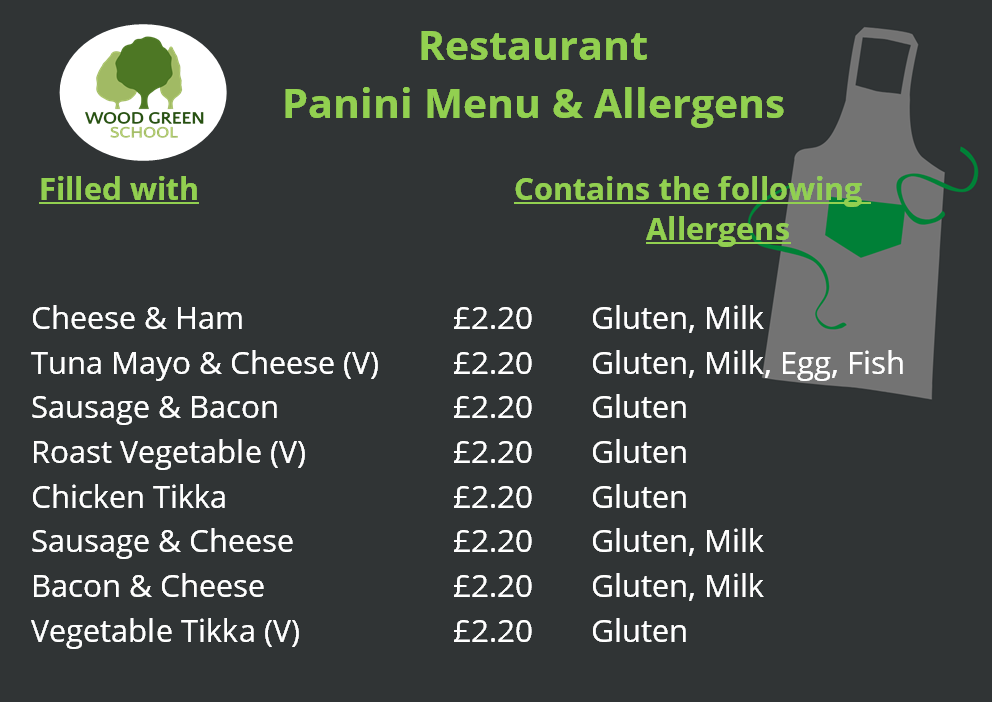 Restaurant   PANINI Menu (Sept 2020)