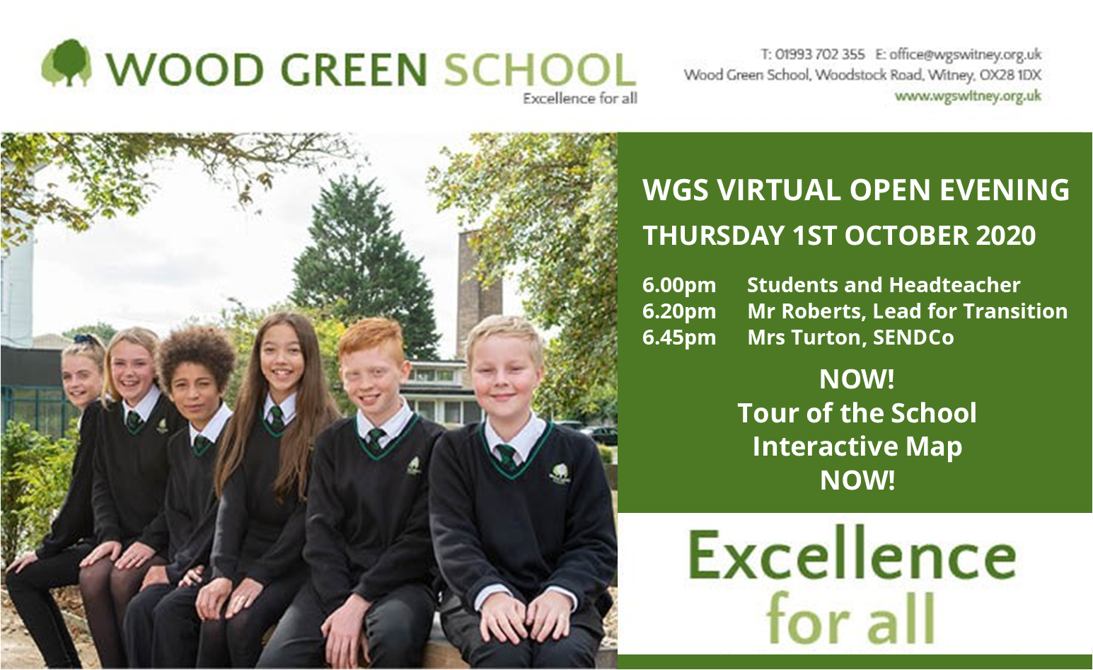 Virtual Open Evening Programme for Website